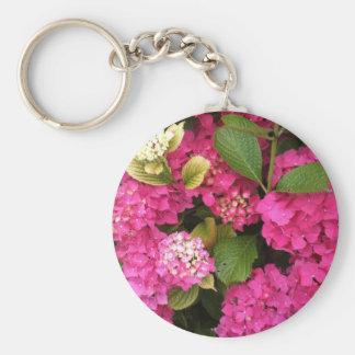 Pink Hydrangea Flowers Keychains