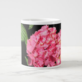 Pink Hydrangea flowers Large Coffee Mug
