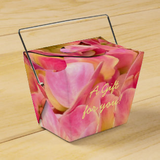Pink Hydrangea Flowers-Take Out Favor Box