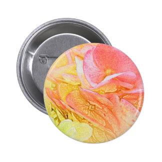 Pink Hydrangea Glow Button