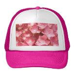 Pink hydrangea hat