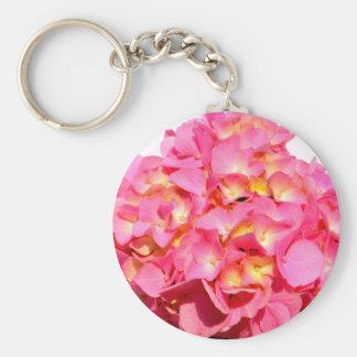 Pink Hydrangea Keychain