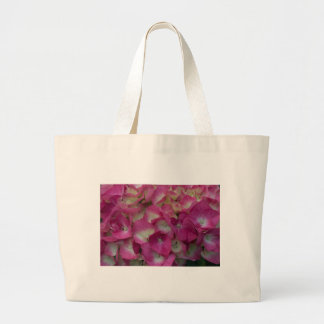 Pink Hydrangea Large Tote Bag