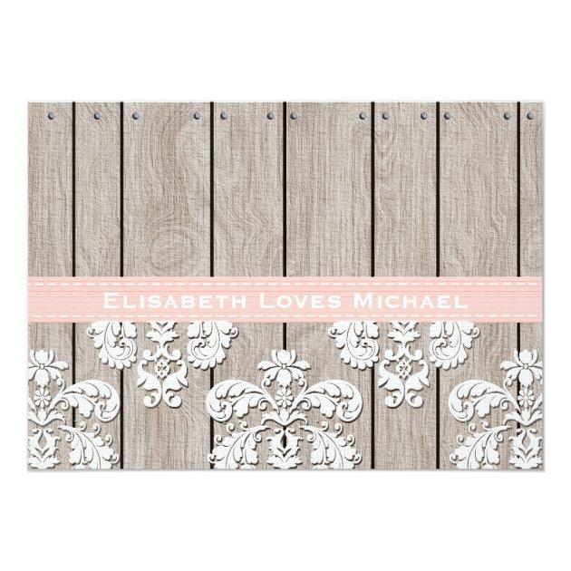 Pink Hydrangea Monogrammed Mason Jar Bridal Shower 5x7 Paper Invitation Card (back side)