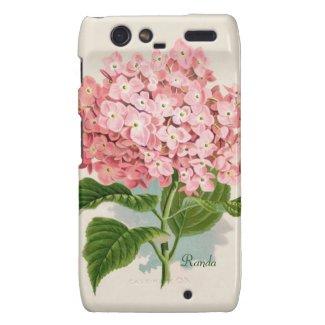 Pink Hydrangea Motorola Razr Case