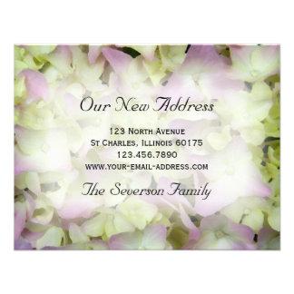 Pink Hydrangea New Address Announcement Card