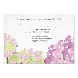 Pink Hydrangea Reponse Card Custom Invites