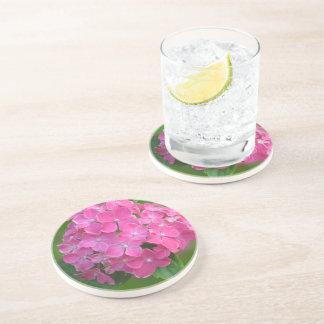 Pink Hydrangea Sandstone Coaster