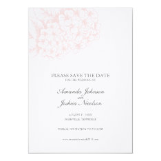 Pink Hydrangea Save the Date 5x7 Paper Invitation Card at Zazzle