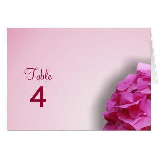 Pink Hydrangea Table Card