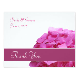 Pink Hydrangea Thank You Card