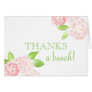 Pink Hydrangea Thank You Note Greeting Card