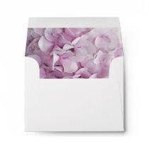 Pink Hydrangea Wedding RSVP Envelope