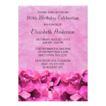 Pink Hydrangeas 80th Birthday Party Invitations