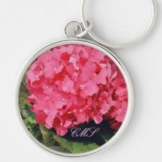 Pink Hydrangeas Keychain