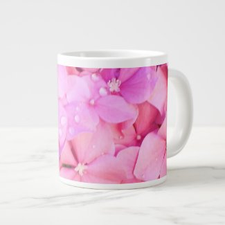 Pink Hydrangeas Large Coffee Mug