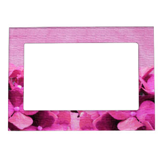 Pink Hydrangeas Magnetic Picture Frame