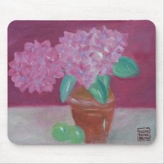 Pink Hydrangeas Mouse Pad