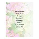 Pink Hydrangeas Pale Blend Personalized Flyer