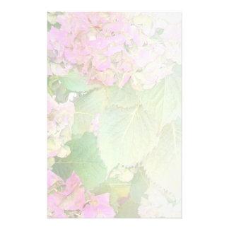 Pink Hydrangeas Pale Blend Customized Stationery