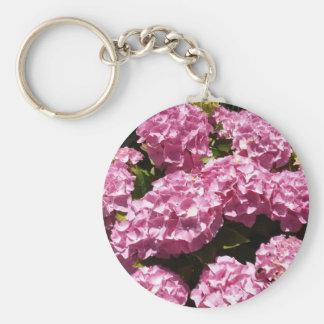 Pink Hydrangeas Photograph Keychain