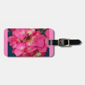 Pink Hydrangeas-Teal colors Flower Gift by SHARLES Luggage Tag