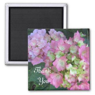 Pink Hydrangeas Thank You Magnet