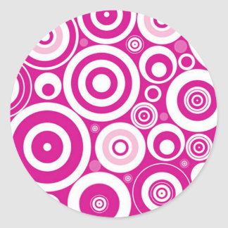 Pink Hypnosis Stickers x 20