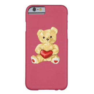 Pink Hypnotizing Cute Teddy Bear Barely There iPhone 6 Case