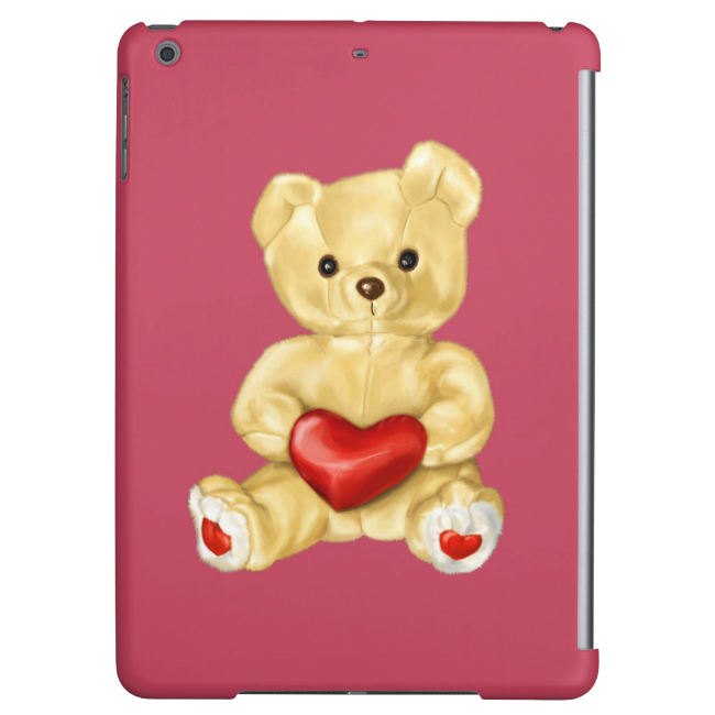 Pink Hypnotizing Cute Teddy Bear Cover For iPad Air