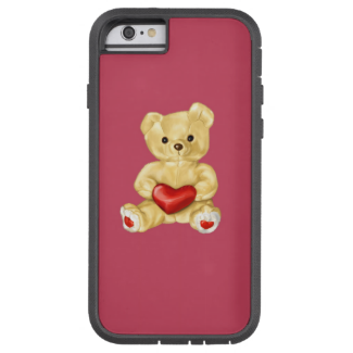 Pink Hypnotizing Cute Teddy Bear Protective Tough Xtreme iPhone 6 Case