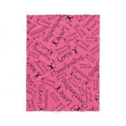 Pink I love cheerleading Fleece Blanket