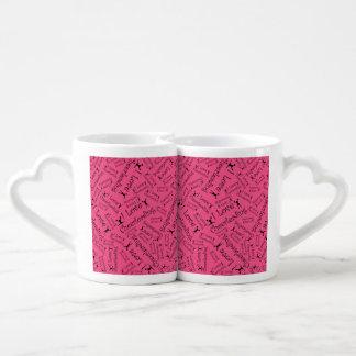 Pink I love cheerleading Couple Mugs