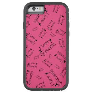 Pink I love gymnastics Tough Xtreme iPhone 6 Case