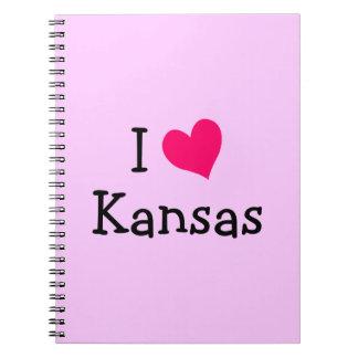 Pink I Love Kansas Note Book