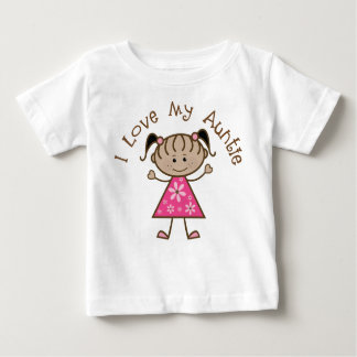 Pink I Love My Aunt Gift Baby T-Shirt