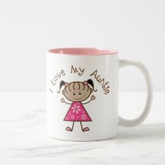 Pink I Love My Aunt Gift Two-Tone Coffee Mug