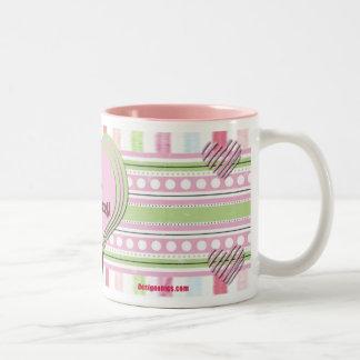 Pink I Love Scrapbooking Two-Tone Coffee Mug