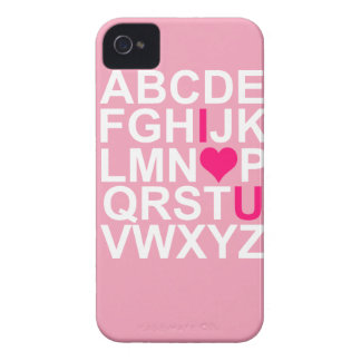 Pink I Love You Heart Blackberry Case