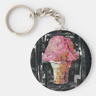Pink Ice Cream Cone Key Chains