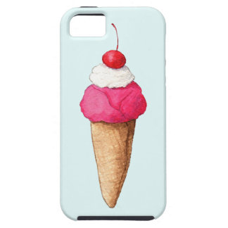 Pink Ice Cream Cone with a Cherry on Top iPhone SE/5/5s Case