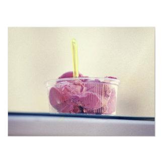 "Pink ice cream 6.5"" x 8.75"" invitation card"