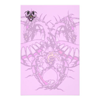 Pink Ice Dragonheart Stationery