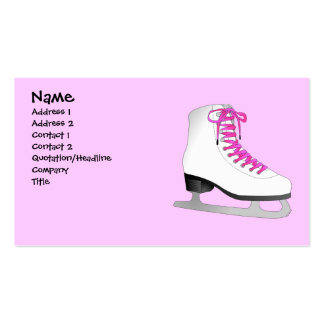 Pink Ice Skate Business Card