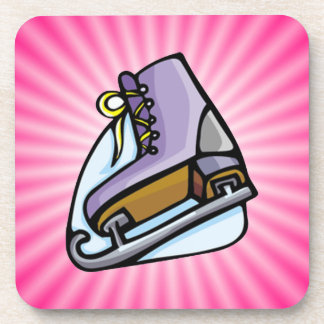 Pink Ice Skate Coaster