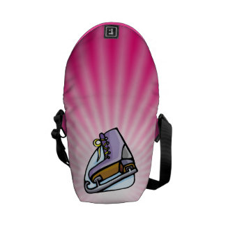 Pink Ice Skate Messenger Bag