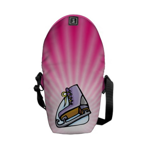 Pink Ice Skate Courier Bags