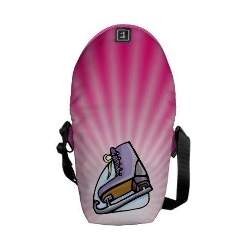 Pink Ice Skate Messenger Bag