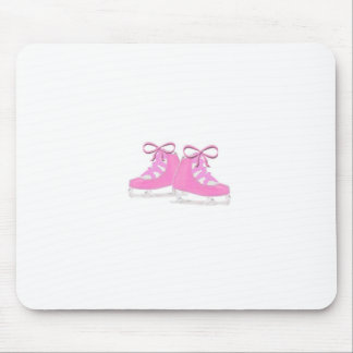 Pink Ice Skates Mouse Pad