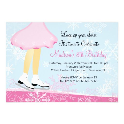 Skate Party Invitation with awesome invitation sample